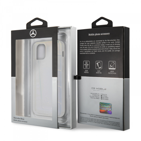 Husa Cover Mercedes Line Iridescent pentru iPhone 12 Mini Clear4
