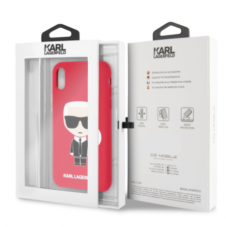 Husa Fashion iPhone XR Rosu Ikonik Karl Lagerfeld4