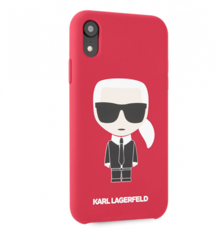 Husa Fashion iPhone XR Rosu Ikonik Karl Lagerfeld0