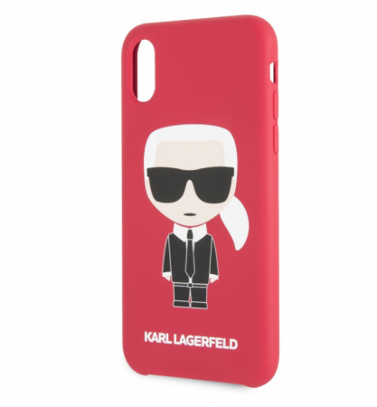 Husa Fashion iPhone XR Rosu Ikonik Karl Lagerfeld2