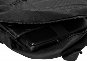 "Rucsac pt. notebook de max. 15.6″, 1 compartiment, buzunar frontal, buzunar lateral x 2, waterproof, nylon, negru, ""Buddy""3"