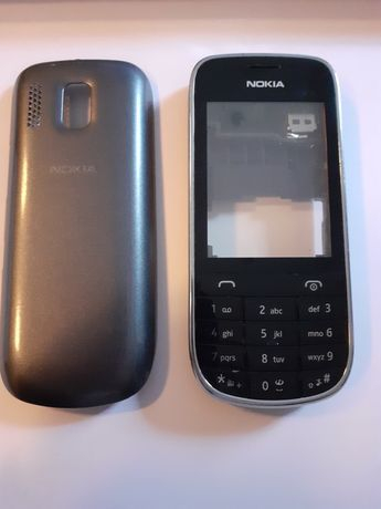 Carcasa completa SWAP Nokia 203, gri 0