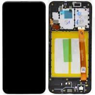 LCD DISPLAY SAMSUNG A20E A202 ORIGINAL BLACK CU RAMA [0]