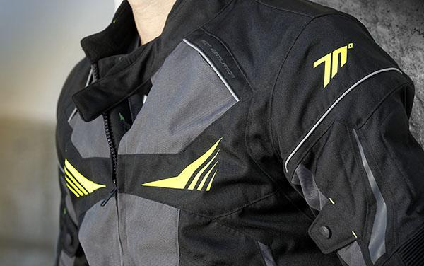 Geaca barbati motociclete model Racing Seventy SD-JR55 culoare: negru/galben fluor [2]