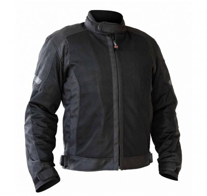 Geaca (jacheta) motociclete barbati model Touring Unik Racing VZ-06 culoare: negru [0]