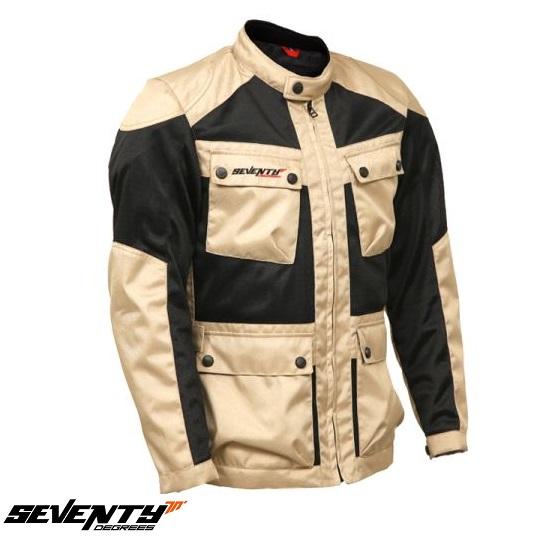 Geaca (jacheta) motociclete barbati model Touring Seventy SD-JC30 culoare: negru/bej [0]