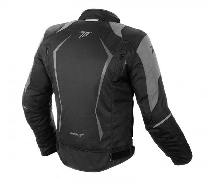 Geaca (jacheta) motociclete barbati model Racing Seventy SD-JR47 culoare: negru/gri [1]