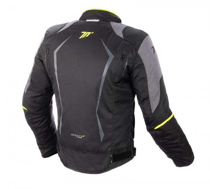 Geaca (jacheta) motociclete barbati model Racing Seventy SD-JR47 culoare: negru/galben fluor [1]