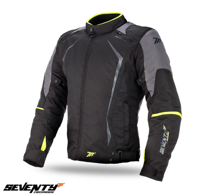 Geaca (jacheta) motociclete barbati model Racing Seventy SD-JR47 culoare: negru/galben fluor [0]
