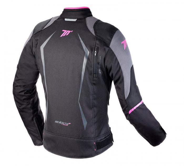 Geaca (jacheta) motociclete femei model Racing Seventy SD-JR49 culoare: negru/roz [1]