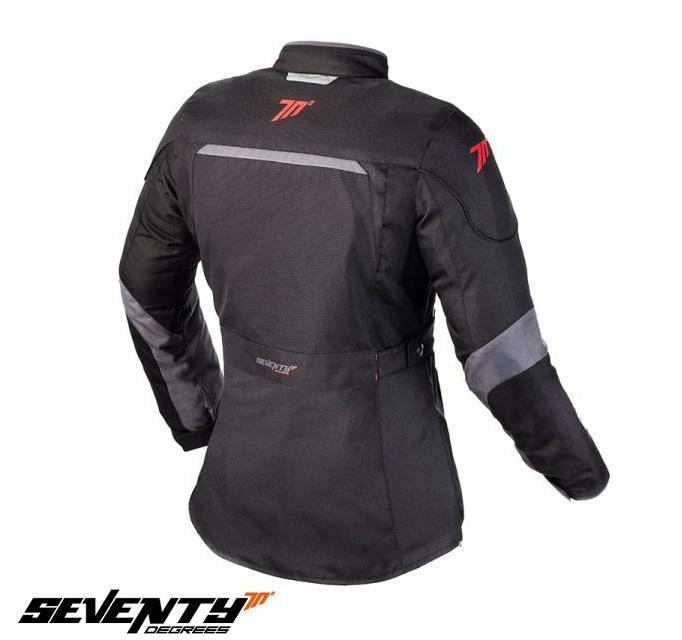 Geaca (jacheta) de vara/iarna motociclete femei model Urban Seventy SD-JC51 culoare: negru/gri [1]