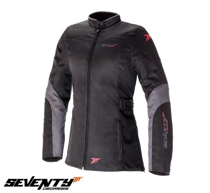 Geaca (jacheta) de vara/iarna motociclete femei model Urban Seventy SD-JC51 culoare: negru/gri [0]
