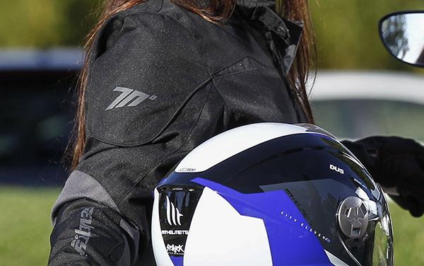 Geaca (jacheta) de vara/iarna motociclete femei model Urban Seventy SD-JC51 culoare: negru/gri [4]