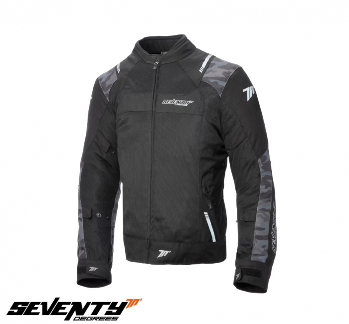 Geaca de vara (jacheta) barbati model Racing Seventy SD-JR52 culoare: negru/camuflaj [1]