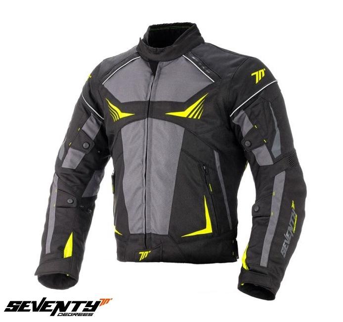 Geaca barbati motociclete model Racing Seventy SD-JR55 culoare: negru/galben fluor [0]