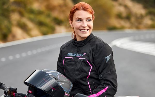 Geaca (jacheta) vara/iarna femei Racing Seventy model SD-JR67 culoare: negru/roz [5]