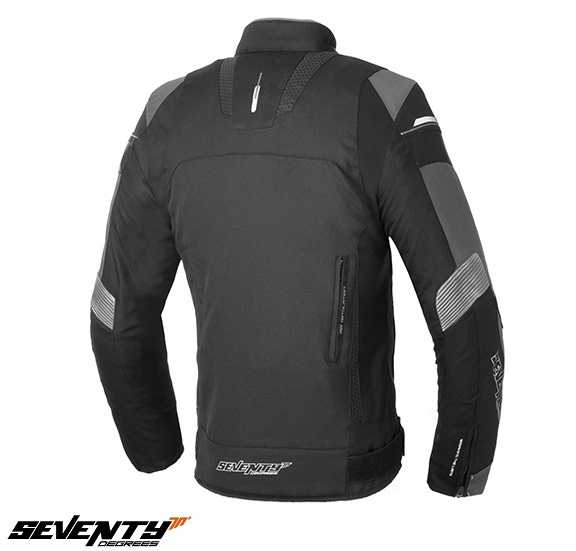 Geaca motocicleta barbati model Racing Seventy SD-JR69 culoare: negru/gri [1]