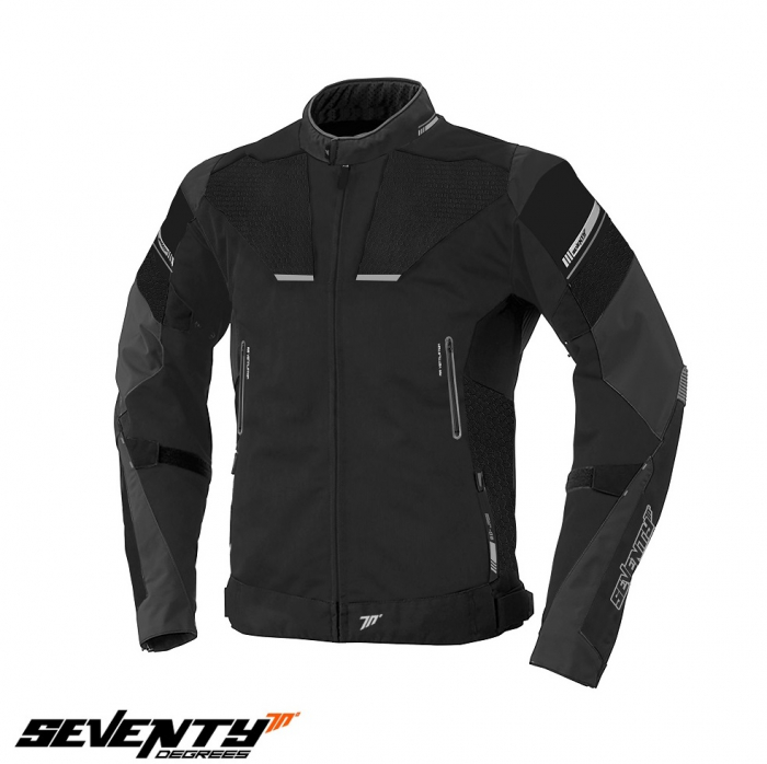 Geaca motocicleta barbati model Racing Seventy SD-JR69 culoare: negru/gri [0]