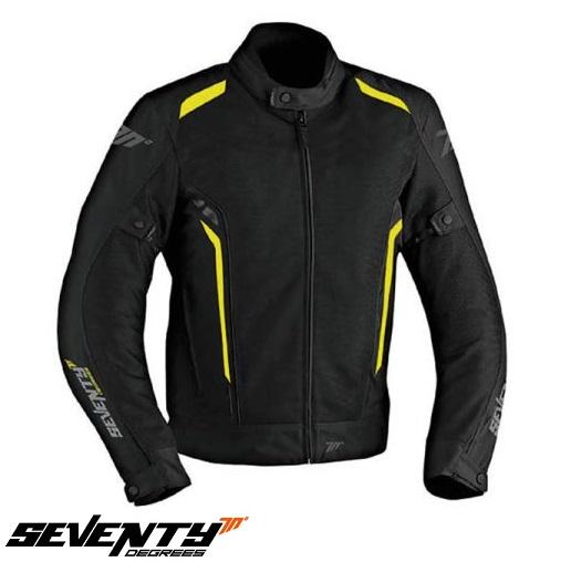 Geaca (jacheta) vara motociclete barbati model Touring Seventy SD-JT32 culoare: negru/galben fluorescent [0]