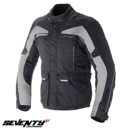 Geaca (jacheta) motociclete barbati model Touring Seventy SD-JT41 culoare: negru/gri [0]