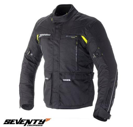 Geaca (jacheta) motociclete barbati model Touring Seventy SD-JT41 culoare: negru/galben fluorescent [0]