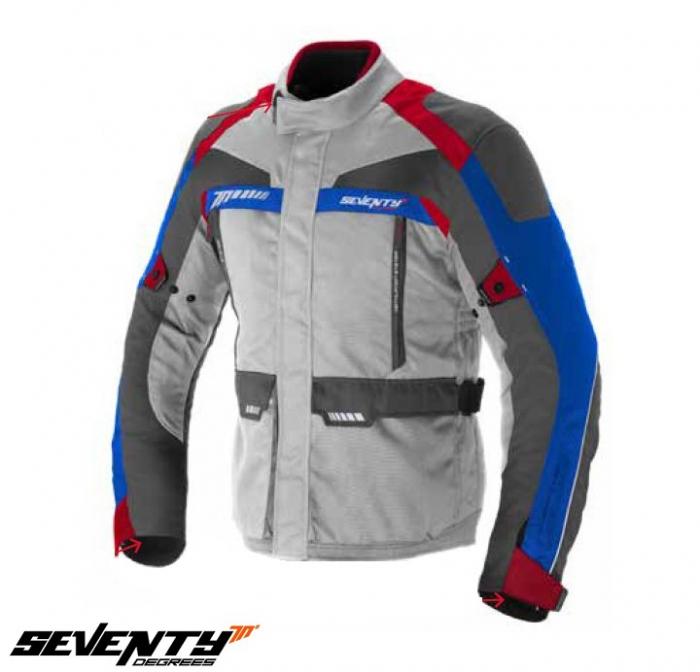 Geaca (jacheta) motociclete barbati model Racing Seventy SD-JT43 culoare: alb/rosu/albastru [0]
