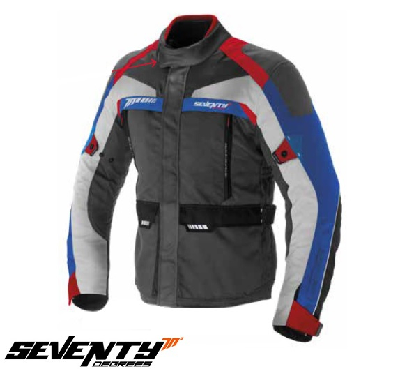 Geaca (jacheta) motociclete barbati model Touring Seventy SD-JT43 culoare: gri/rosu/albastru [0]