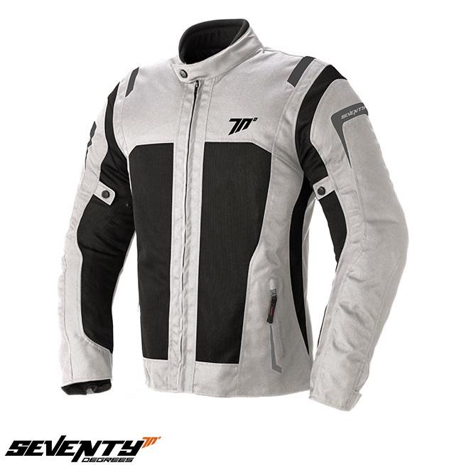 Geaca moto (jacheta) vara barbati model Touring Seventy SD-JT44 culoare: alb ice/negru [0]