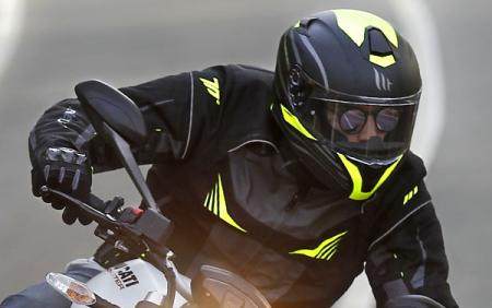 Geaca barbati motociclete model Racing Seventy SD-JR55 culoare: negru/galben fluor [4]