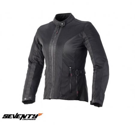 Geaca (jacheta) de vara motociclete femei model Urban Seventy SD-JC34 culoare: negru [0]