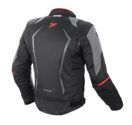Geaca barbati motociclete model Racing Seventy SD-JR47 culoare: negru/rosu [1]