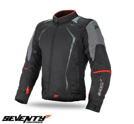 Geaca barbati motociclete model Racing Seventy SD-JR47 culoare: negru/rosu [0]