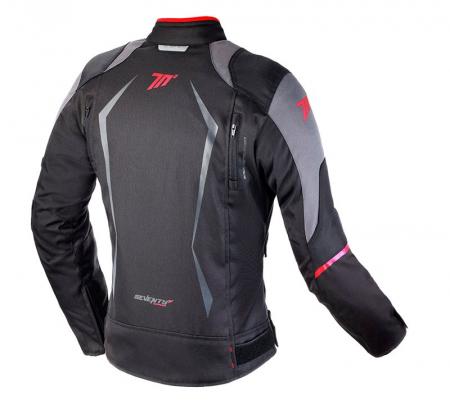 Geaca (jacheta) motociclete femei model Racing Seventy SD-JR49 culoare: negru/rosu [1]