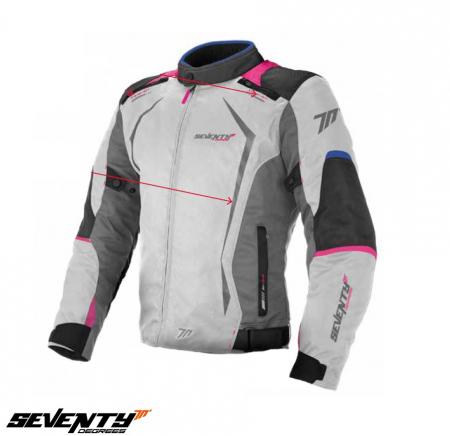 Geaca (jacheta) vara/iarna motociclete femei model Racing Seventy SD-JR49 culoare: gri/albastru/roz [0]