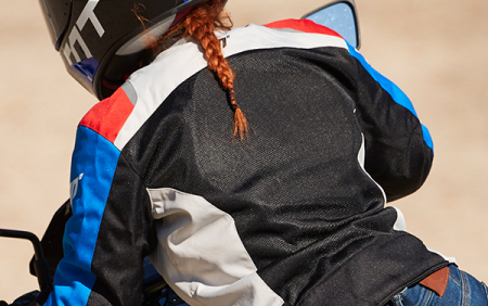 Geaca (jacheta) de vara femei model Racing Seventy SD-JR50 culoare: negru/rosu/albastru [3]