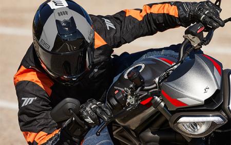 Geaca (jacheta) de vara barbati model Racing Seventy SD-JR52 culoare: negru/portocaliu [2]