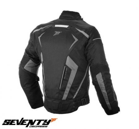 Geaca vara/iarna (jacheta) motociclete barbati model Racing Seventy SD-JR55 culoare: negru/gri [4]