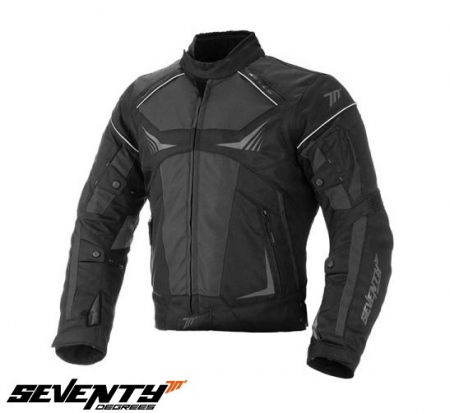Geaca vara/iarna (jacheta) motociclete barbati model Racing Seventy SD-JR55 culoare: negru/gri [0]
