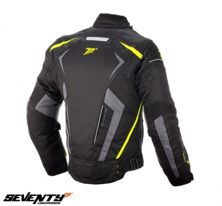 Geaca barbati motociclete model Racing Seventy SD-JR55 culoare: negru/galben fluor [5]
