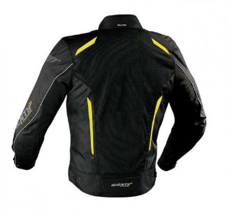 Geaca (jacheta) vara motociclete barbati model Touring Seventy SD-JT32 culoare: negru/galben fluorescent [1]