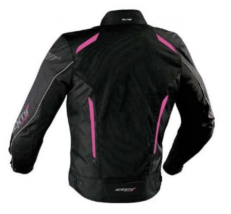 Geaca (jacheta) vara motociclete femei model Touring Seventy SD-JT36 culoare: negru/roz [1]