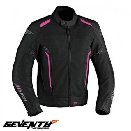Geaca (jacheta) vara motociclete femei model Touring Seventy SD-JT36 culoare: negru/roz [0]