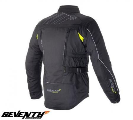 Geaca (jacheta) motociclete barbati model Touring Seventy SD-JT41 culoare: negru/galben fluorescent [1]
