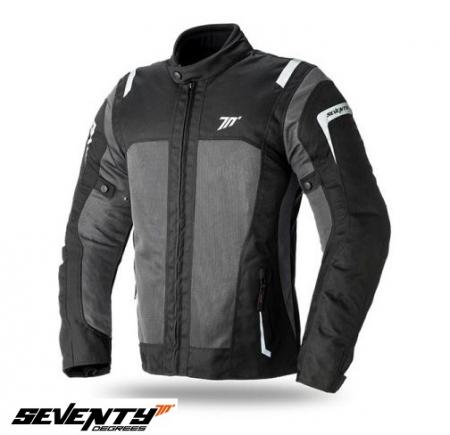 Geaca (jacheta) vara motociclete barbati model Touring SD-JT44 culoare: negru/gri [0]