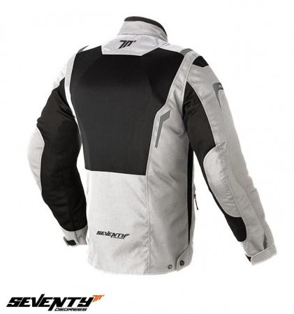Geaca moto (jacheta) vara barbati model Touring Seventy SD-JT44 culoare: alb ice/negru [1]