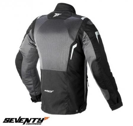 Geaca (jacheta) motociclete femei model Touring Seventy SD-JT46 culoare: negru/gri [1]