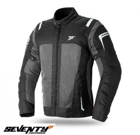 Geaca (jacheta) motociclete femei model Touring Seventy SD-JT46 culoare: negru/gri [0]