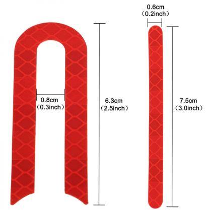 Set 4 abtipilduri stickere reflectorizante pentru capace protectie roti trotineta electrica Xiaomi Mijia M365 / M365 Pro, rosu [2]