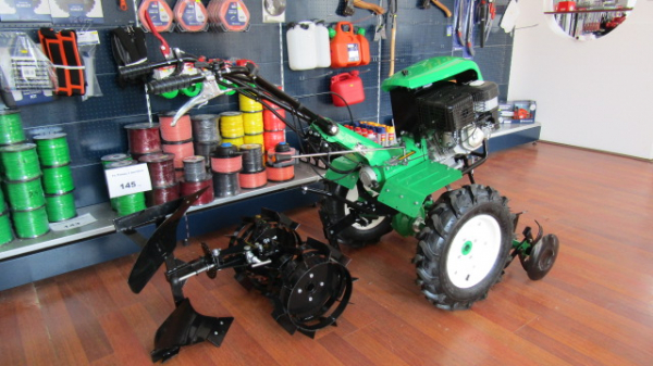 Motosapa verdina HSD1G-105G+roti de cauciuc,roti metalice si plug reversibil [1]