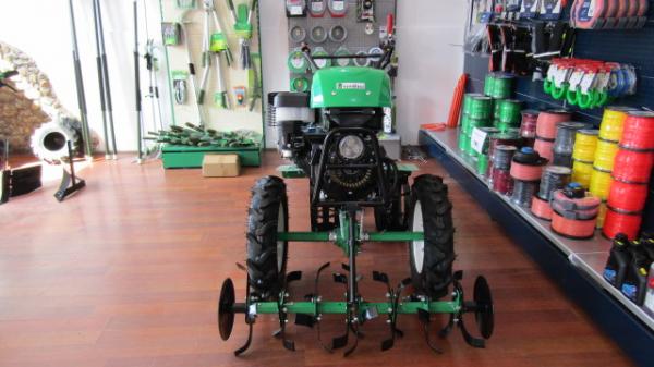 Motosapa verdina HSD1G-105G+roti de cauciuc,roti metalice si plug reversibil [2]